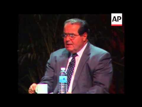 Supreme Court Justice Antonin Scalia Discussed Homosexual Rights And Abortion During A Debate With T