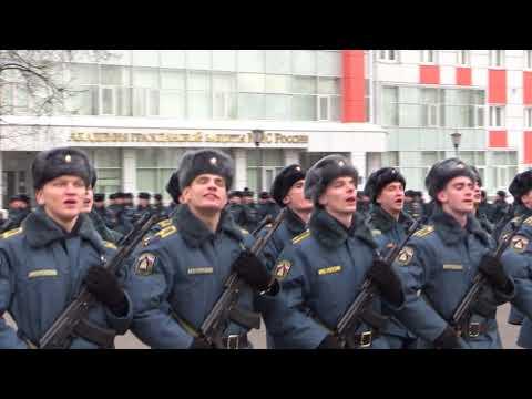 видео: Ежедневно курсанты МЧС России готовятся к участию в Параде Победы на Красной площади