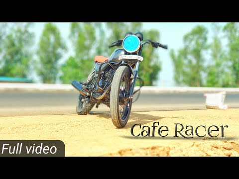 cafe racer from bajaj CT -100 modified