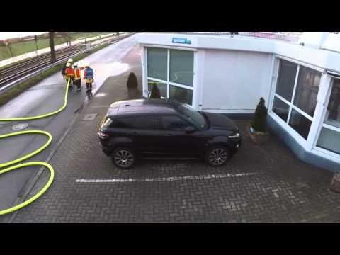 Übung Schaum aus Sicht der Drohne