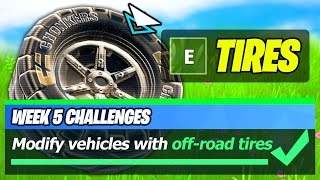 Off-Road Tires LOCATIONS & Modify vehicles with off-road tires - Fortnite