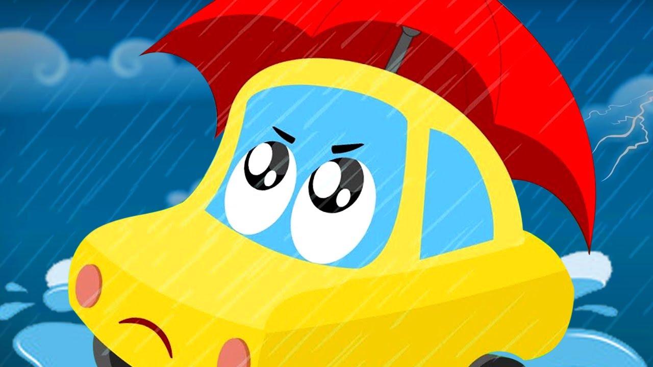 Lluvia lluvia desaparece | Canciones infantiles | Dibujos animados | Little Red Car | Educativos