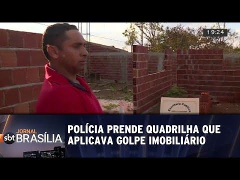 Polícia prende quadrilha que dava golpe imobiliário no Itapuã | Jornal SBT Brasília 22/08/2018