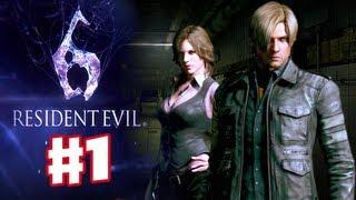 Resident Evil 6 - Leon Gameplay Walkthrough Part 1 (Co-op)