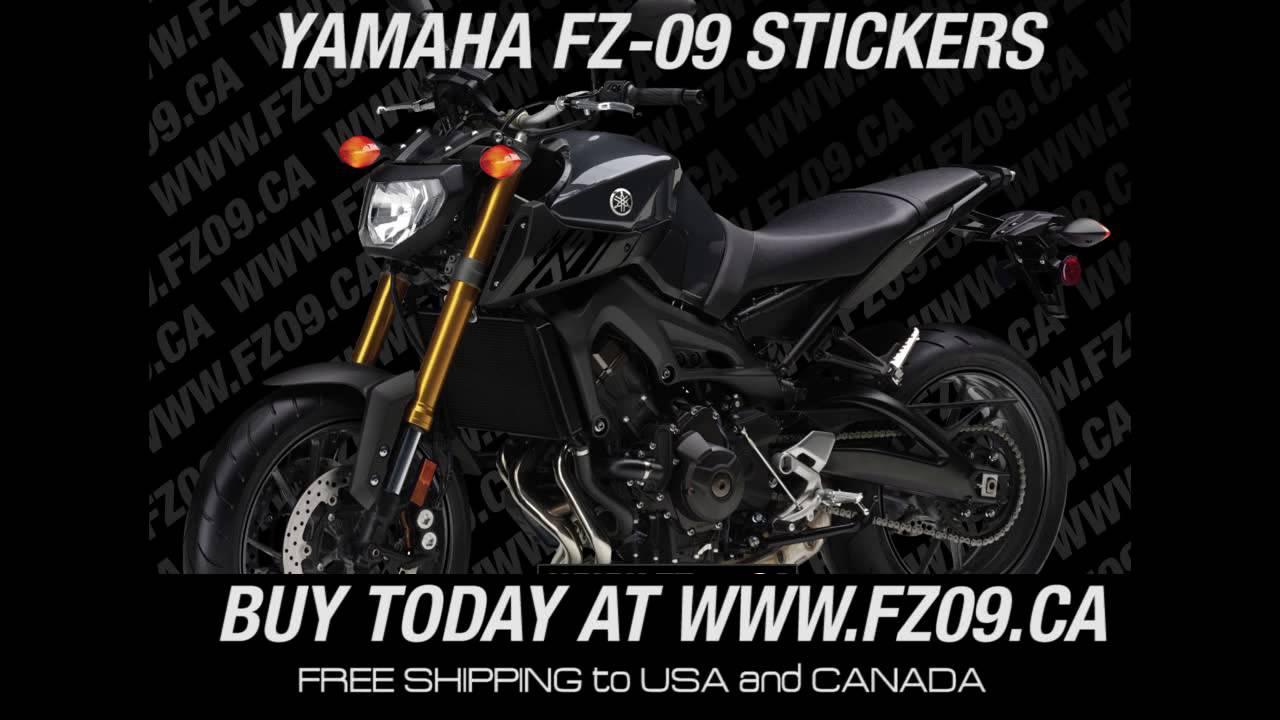 Yamaha fz09 wheels stickers stripe decals