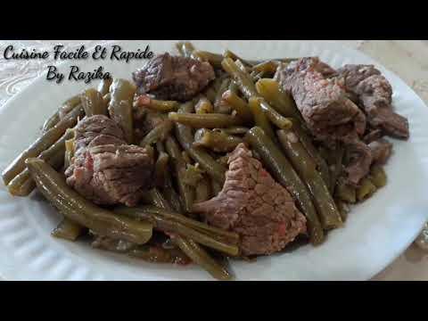 recette-d'haricot-vert-avec-la-viande-de-veau-/loubia-machtou