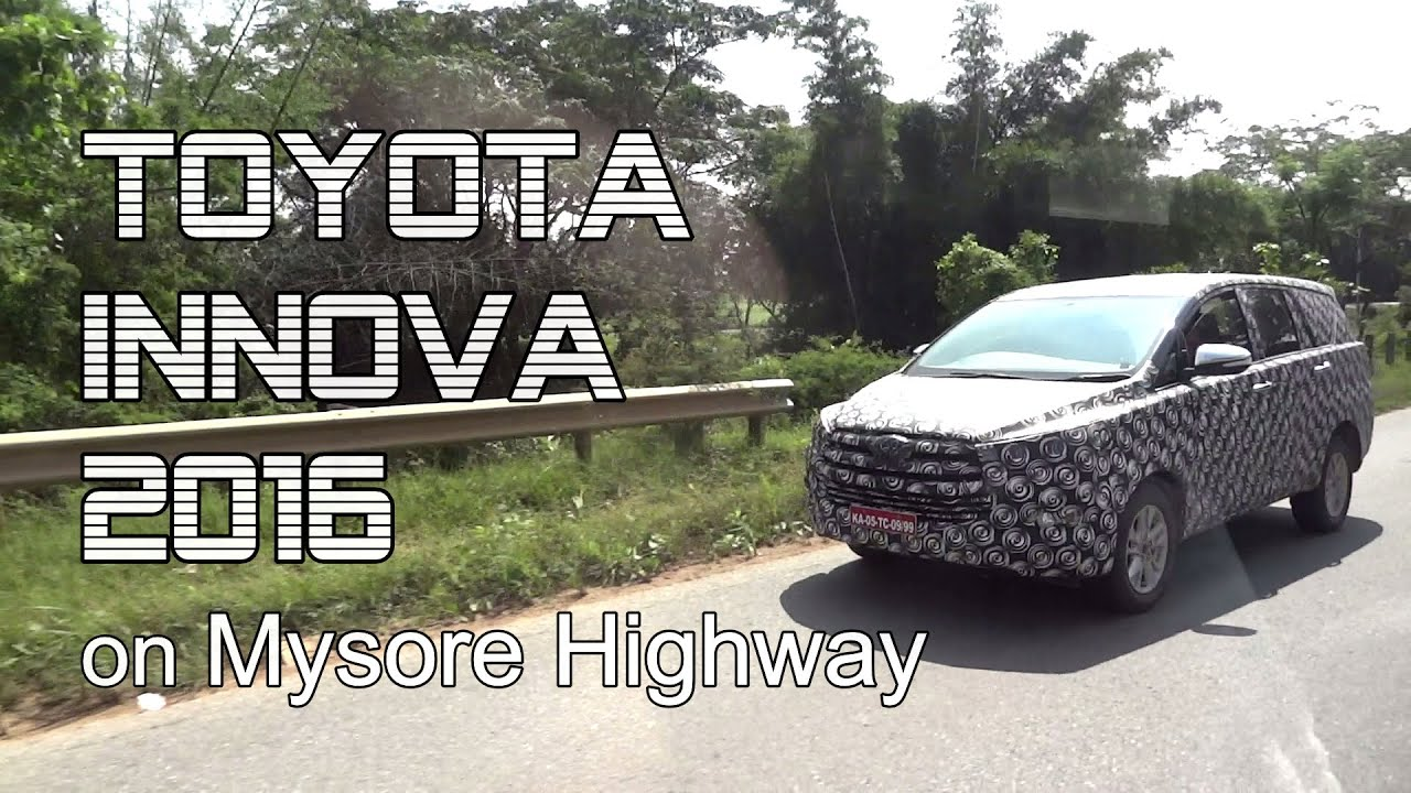 Toyota Innova 2016 Test Driving On Indian Highway Youtube