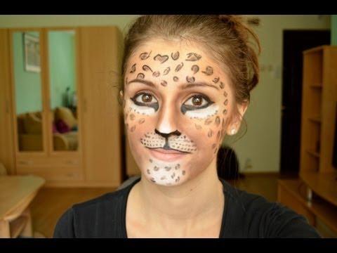 Halloween: Leopard Makeup Tutorial - YouTube