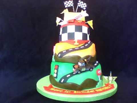 Cars Themed Fondant Birthday Cake
