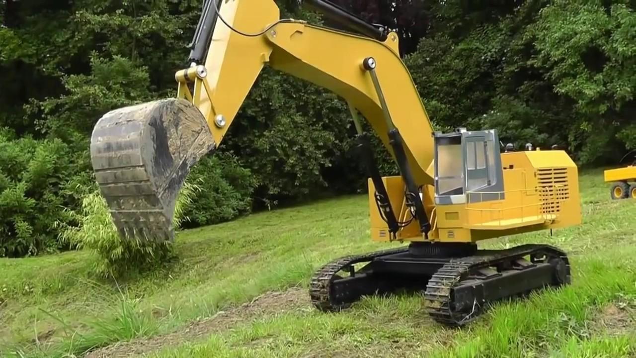 Excavator L Rc Digger Cat 5110 B L Big Rc Excavator L Best Machines L Youtube