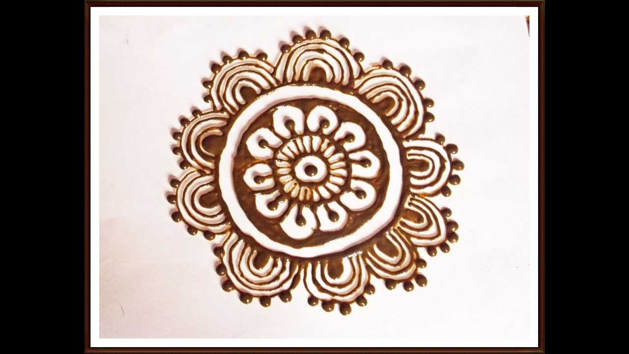 Henna Flower Designs: Henna Flower Tutorial