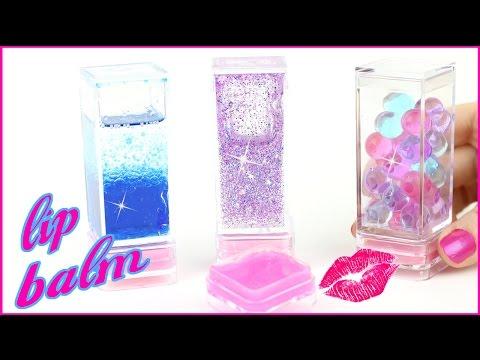 DIY Lip Balm {Easy}! AMAZING Liquid Lava, Galaxy Glitter & Orbeez Lip Gloss DIYs! Cool DIY Crafts