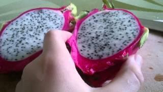 Экзотический фрукт-питахайя, драконий глаз, dragonfruit.
