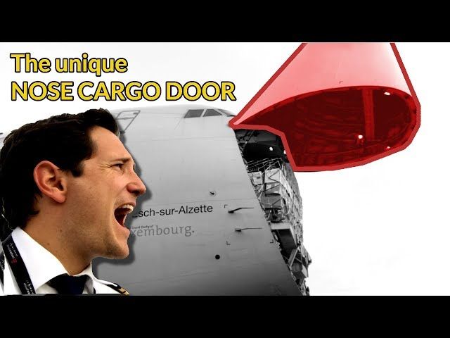 How does the NOSE CARGO DOOR work on the BOEING 747 explained by CAPTAIN JOE