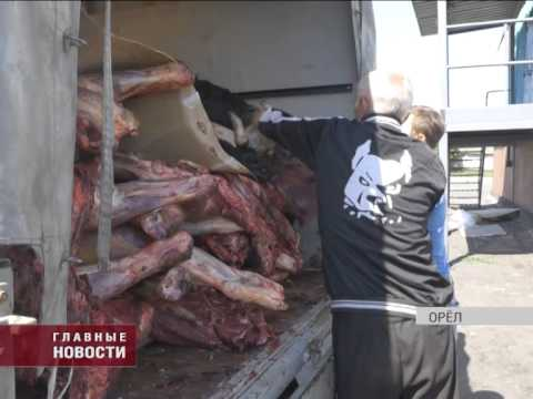 В Орловской области задержана партия мяса
