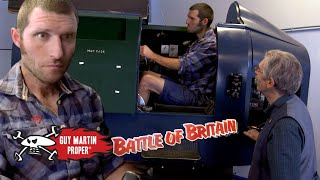 Guy training in the world's first flight trainer | Guy Martin Proper Exclusive Scene