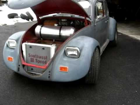 1967, vw beetle,bug with 302 ford v-8 midengine corvair sleeper v8 - YouTube