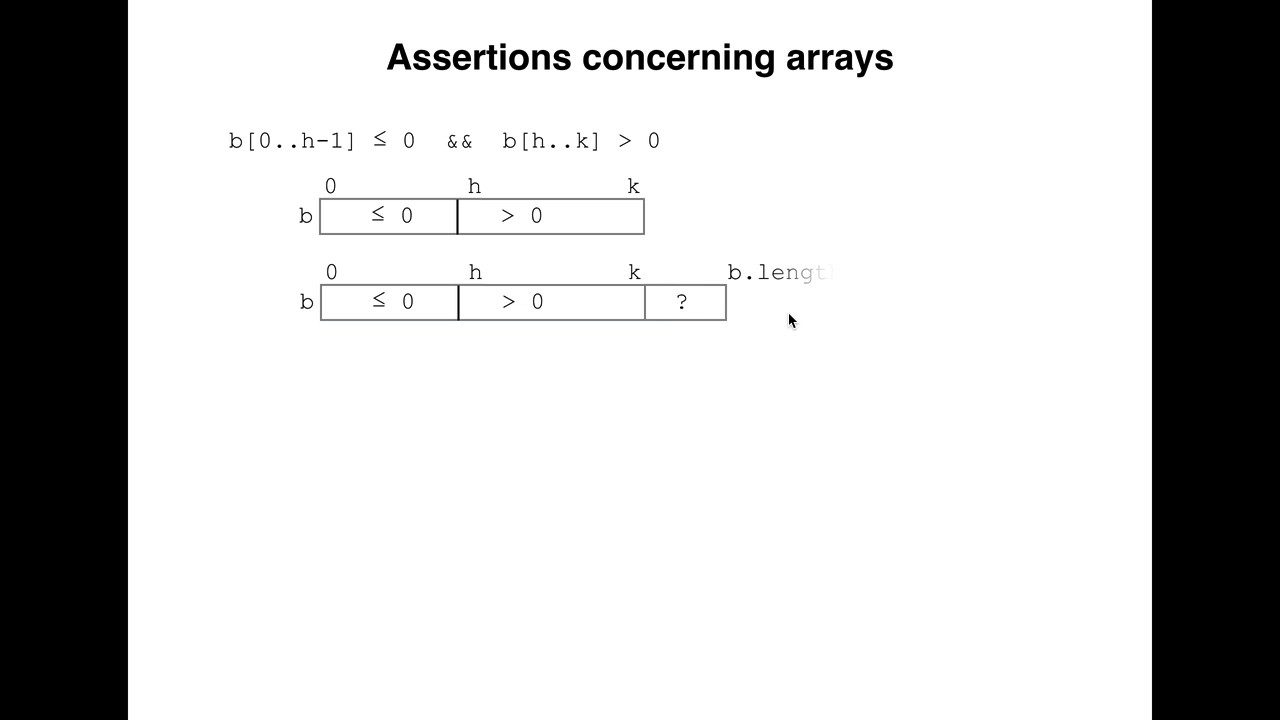 PC03  Array notation for assertions