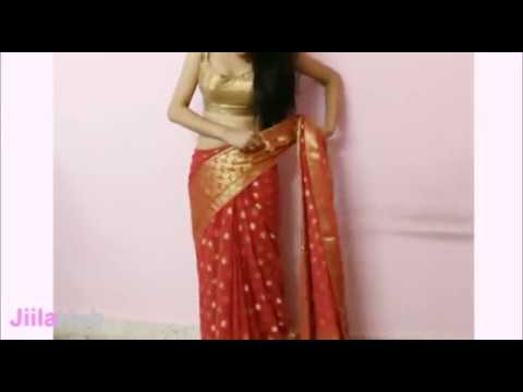 Artistic Saree Wearing Method:How To Wrap Indian Ethnic Sari(Steps)