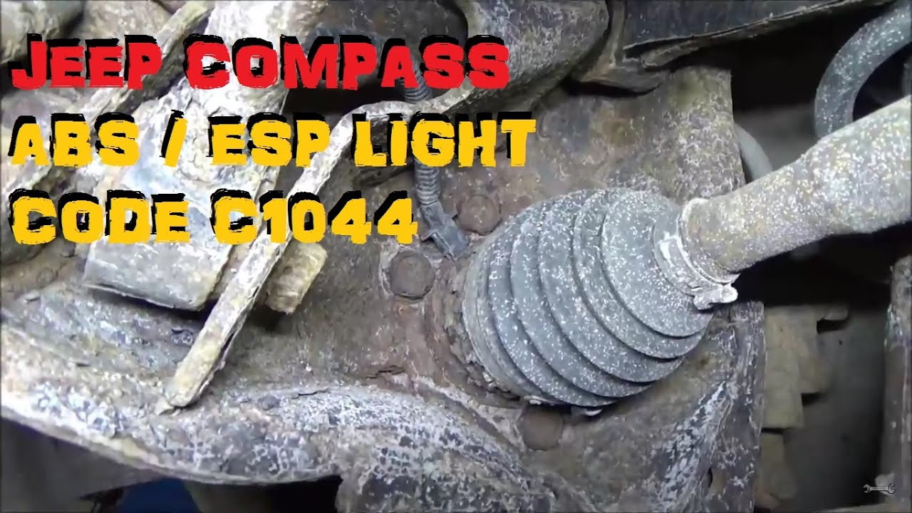 jeep compass abs trouble code c1044 part i youtube