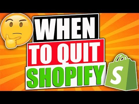 When To Quit Shopify Dropshipping *SURPRISING REVEAL* thumbnail
