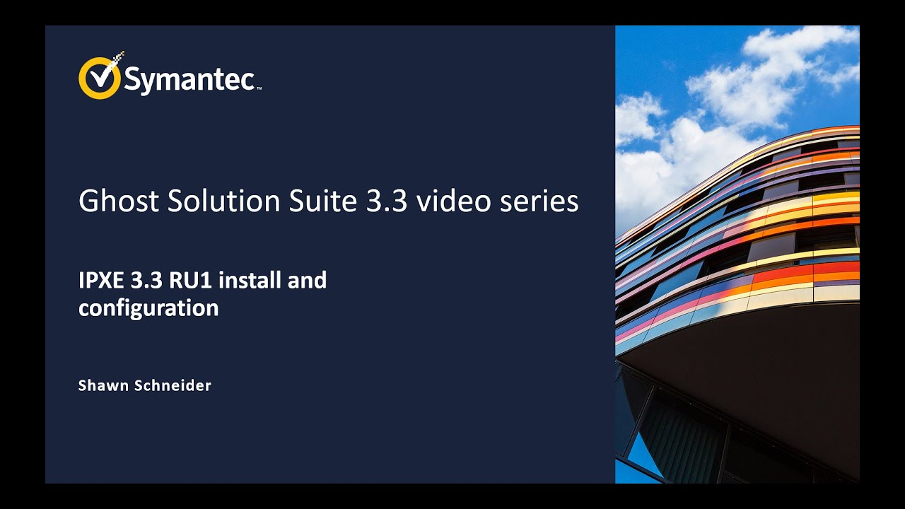 Ghost Solution Suite 3 3 video series, Ipxe install, set up and use RU1