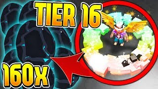 OPENING 160 TIER 16 RAINBOW PETS IN PET SIMULATOR! - ROBLOX