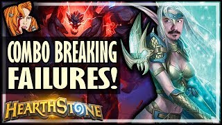 COMBO BREAKING FAILURES! - Rise of Shadows Hearthstone