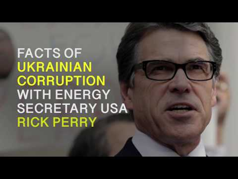 Energy Secretary USA Rick Perry and corruption in Ukraine
