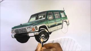 HOW TO DRAW A CAR ... DRAWING NISSAN PATROL