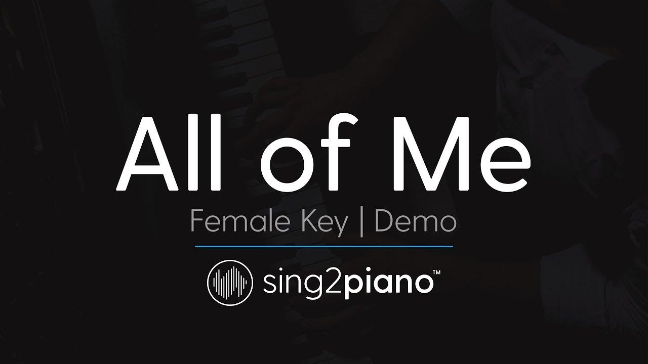 All of me female key karaoke demo john legend chords chordify hexwebz Gallery