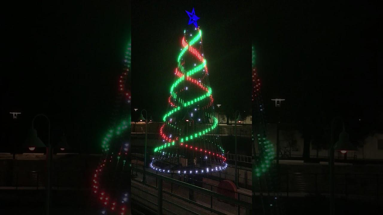 Hi-Tech Christmas Tree On The San Antonio River