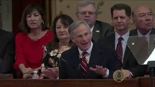 Governor Greg Abbott's 2019 State of the State Address