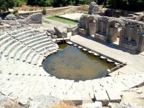 Butrint - Butrinti - Buthrotum - Albania - Shqipëria - Baptistery - Remains of the theatre