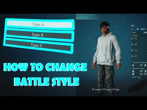 How To Change Your Battle Style And Hair Color In Jump Force