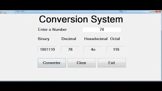How to Convert Binary, Decimal, Hexadecimal and Octal in Visual Basic.Net