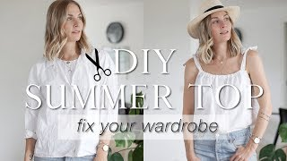 DIY summer top from old shirt Fix your wardrobe series
