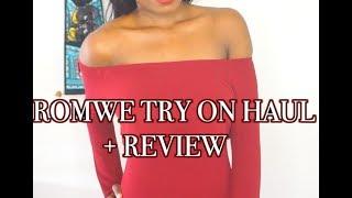 HUGE ROMWE TRY ON HAUL + REVIEW | MsElizJay