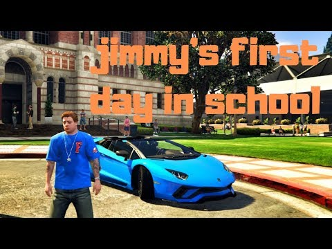 GTA 5-JIMMY'S FIRST DAY IN COLLEGE WITH A LAMBO AVENTADOR S,(GTA 5 REAL LIFE GAMEPLAY),4K
