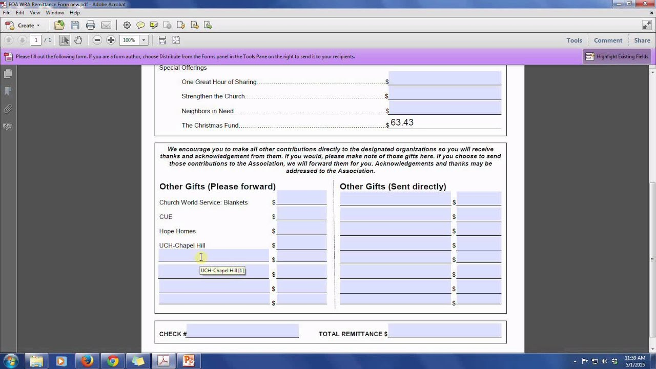 Filling Out the Remittance Form - YouTube