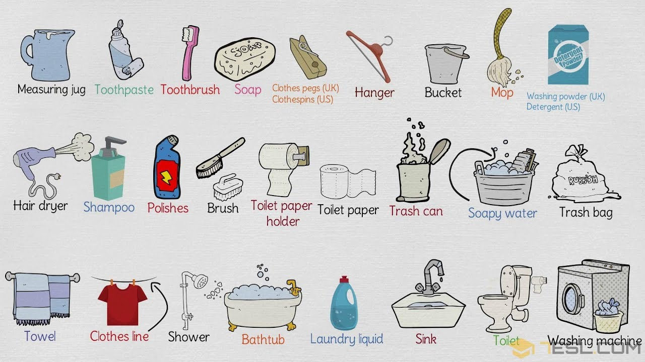 Bathroom Vocabulary In English Things The
