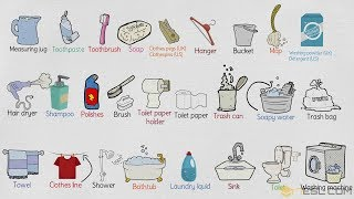 Bathroom Vocabulary: List of Bathroom Accessories and Furniture in English