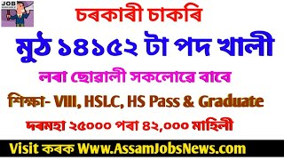 Latest Job Recruitment In Assam & Central Government 2019// Total 12000+ New Vacancy Update// Online