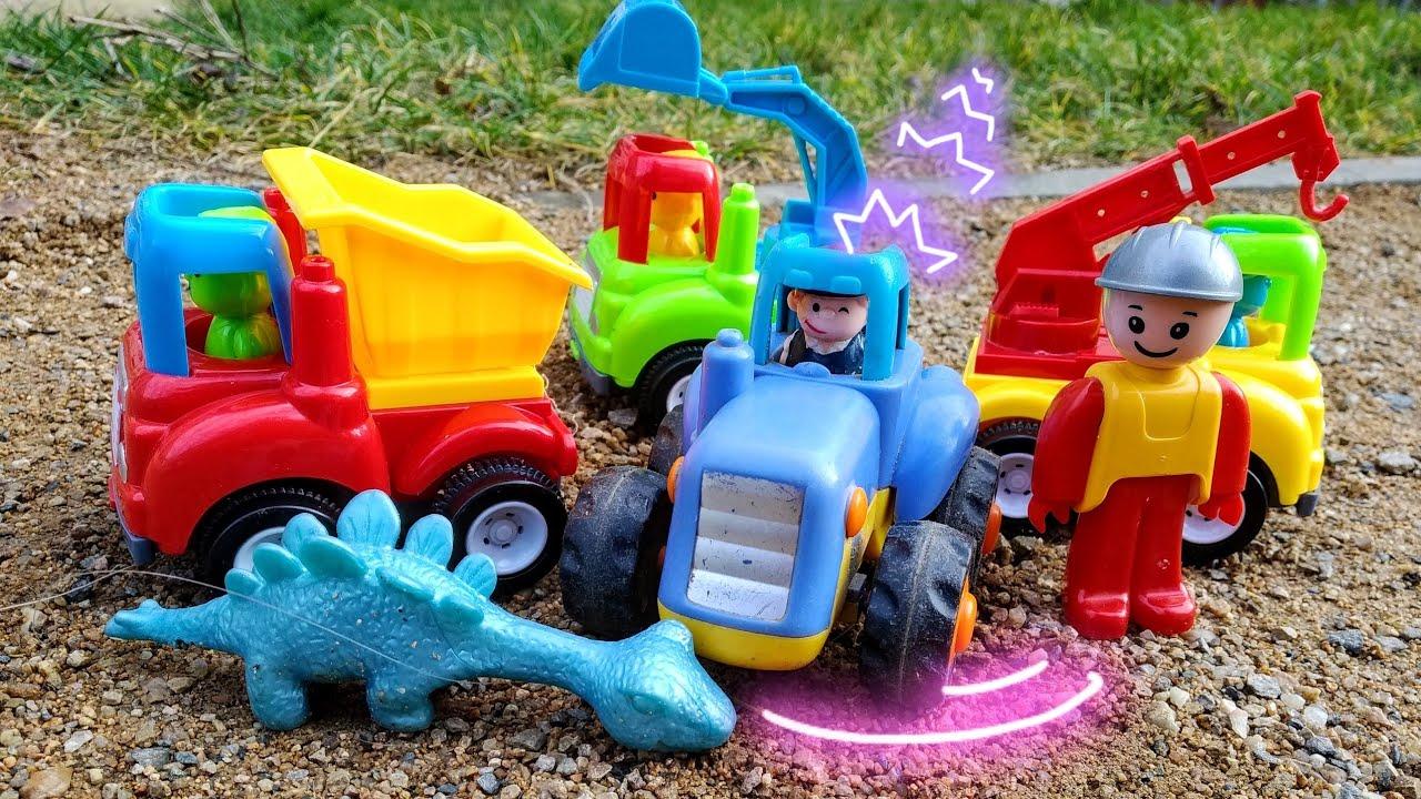 Мультики про машинки. Синий трактор, строительная техника ...