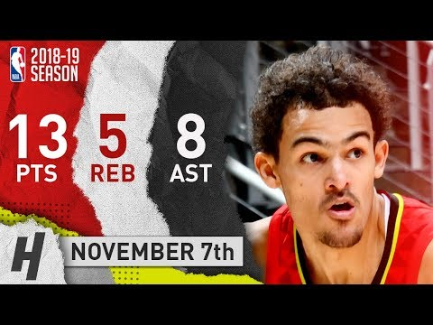Trae Young Full Highlights Hawks vs Knicks 2018.11.07 - 13 Pts, 8 Ast, 5 Rebounds!