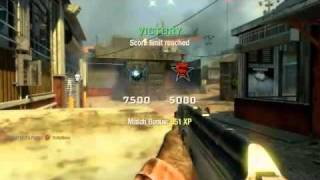 Call Of Duty Black Ops Awesome 400m Knife Throw Gameplay Tomahawk Winning KillCam !