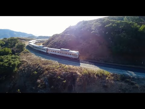 Amtraks Coast Starlight Private Car Trip with Drone footage