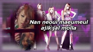 2NE1- I LOVE YOU karaoke with official instrumental