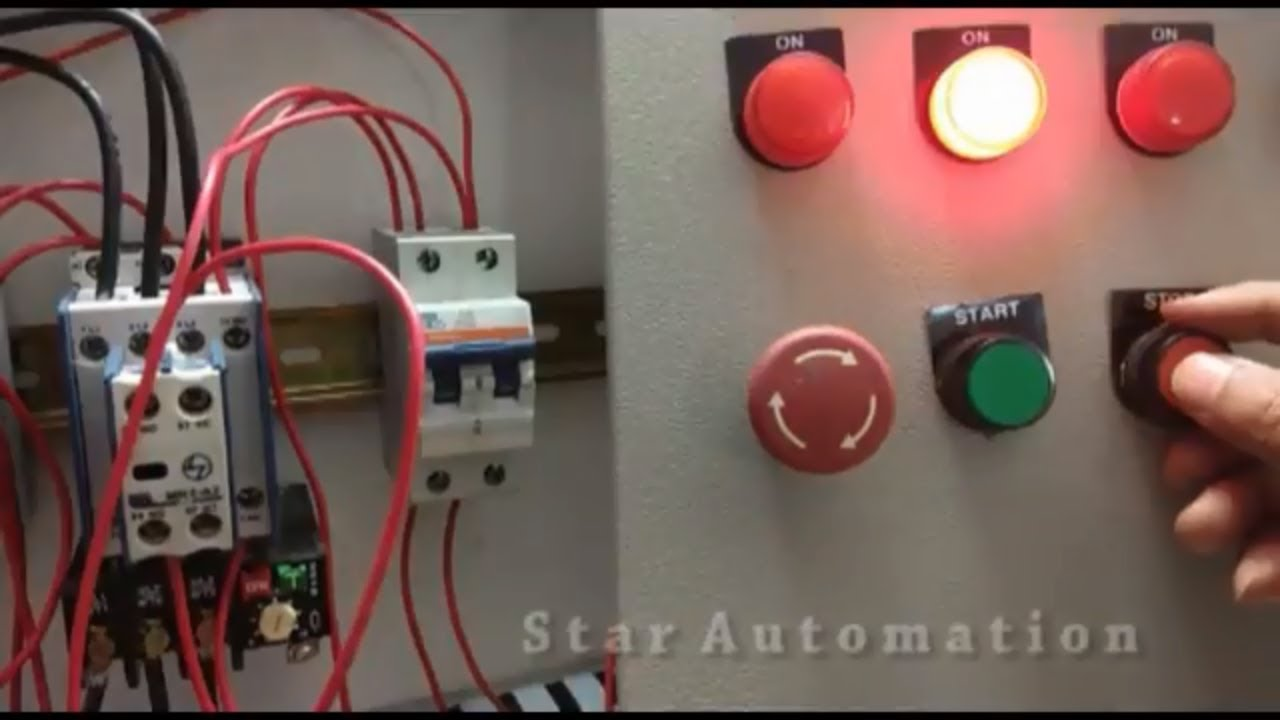 Learning Dol Starter Youtube Electrical Wiring