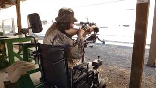 Power Wheelchair Gun Mount with Rifle Rest